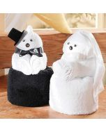 Towel dolls bruidspaar
