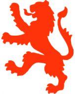 Oranjeleeuw  ca. 10 x 8 cm