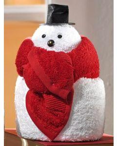 Towel dolls Sneeuwman