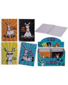 4-pack Llama-notitieboekjes A6