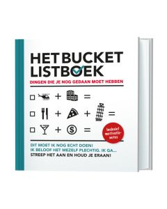 Het bucket listboek