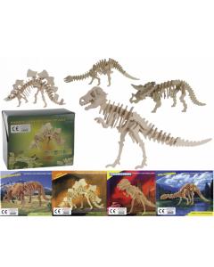 3D puzzels dinosaurussen - 4 stuks