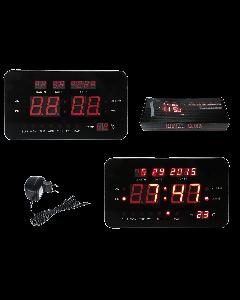 Digitale klok met wekkerfunctie, datum- en temperatuurweergave