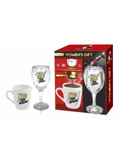 Women's gift coffee and beer