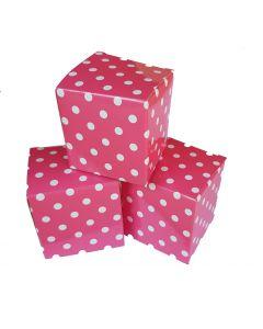 12 doosjes 5 cm roze