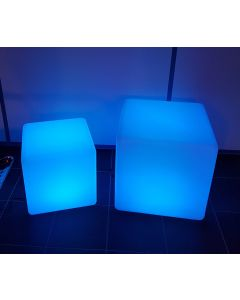 Kubus 50x50 cm met LED-verlichting