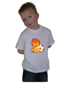 Oranje t-shirt Leeuwtje met bal (1)