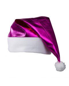 Glanzende kerstmuts hardroze
