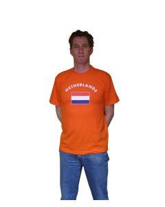 T-shirt met vlag en Netherlands