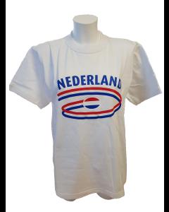 T-shirt met  opdruk NL white