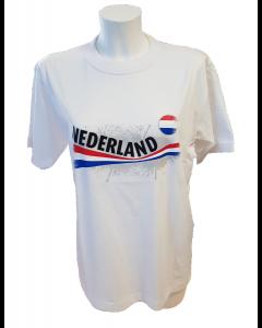 T-shirt met  vintage opdruk NLwhite