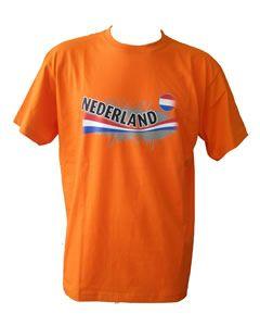 T-shirt met  vintage opdruk NL