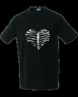 Unisex T-shirt Heart made of ribs