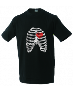 Unisex T-shirt Ribs and heart
