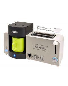 Ontbijtset (koffiezetapparaat, broodrooster en oplader in 1)