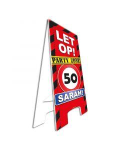 Warning sign Sarah