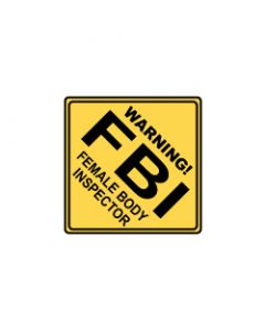Verkeersbord FBI