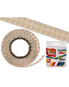 Flexibel bouwsteentape wit