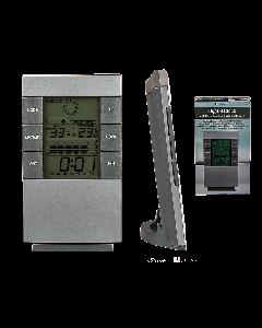 Digitale klok met wekker en weerstation