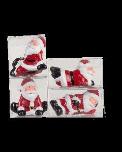 Set van 4 kerstmannen