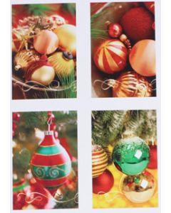 Hallmark kerstkaarten met kerstballen, doosje van 16 stuks