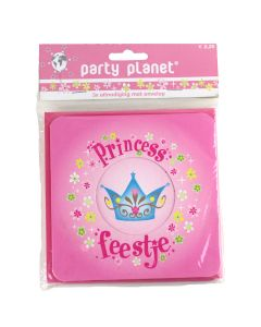 Pakje uitnodigingskaartjes Princess