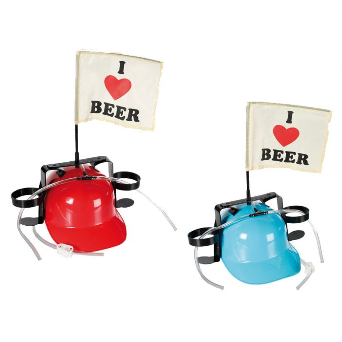 Bier Helm met vlag